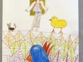 Papoušek a kuřátko
